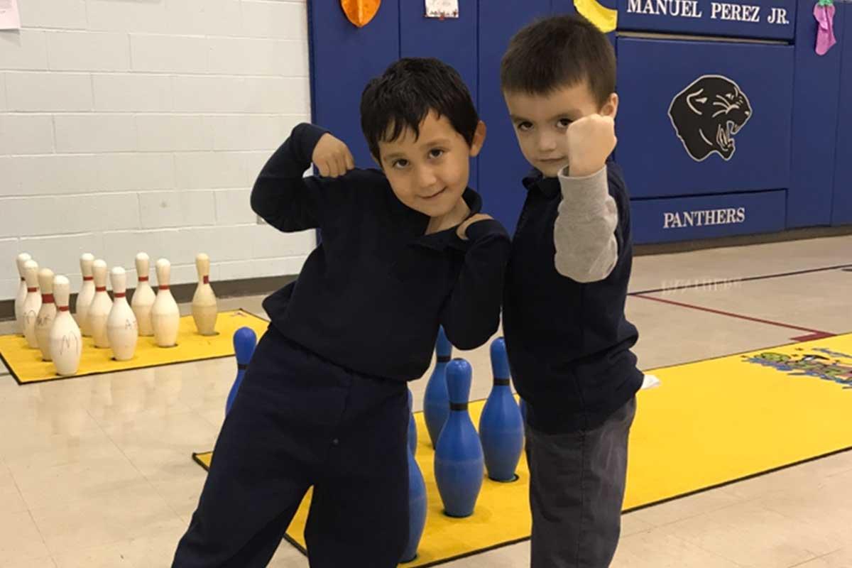 perez kids in gym